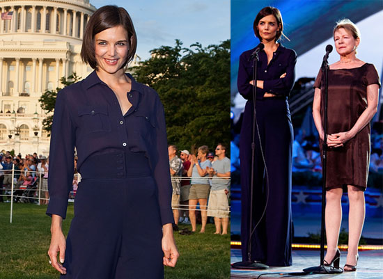 Photos of Katie Holmes and Diane Wiest at a Memorial Day Celebration in Washington DC