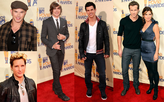 Photos of Kellan Lutz, Taylor Lautner, Ryan Reynolds, Zac Efron, and More at 2009 MTV Movie Awards