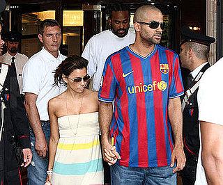 Photo Slide of Eva Longoria and Tony Parker Leaving Their Rome Hotel