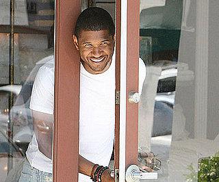 Photo Slide of Usher Checking on His Ferrari in LA