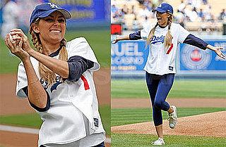 Lauren Conrad at Dodgers Game
