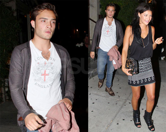 Photos of Gossip Girl Couple Ed Westwick and Jessiza Szohr Leaving Koi in LA