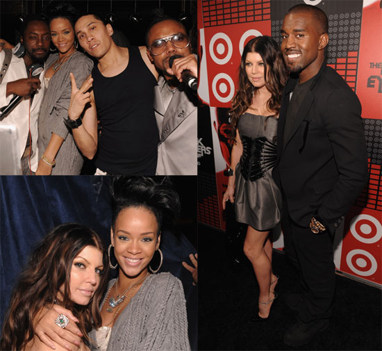 Photos of Fergie, Rihanna, Kanye West at Black Eyed Peas Album Release Party