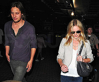 Photo Slide of Kate Bosworth and James Rousseau at LAX
