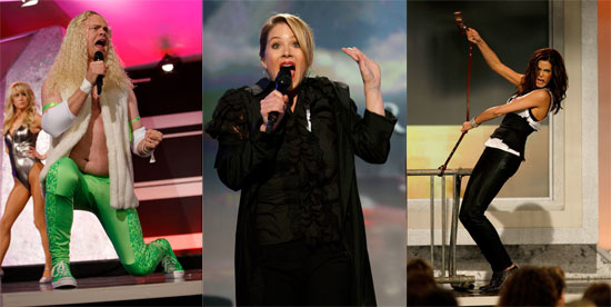 Teri Hatcher, Rainn Wilson, Taraji P. Henson, and Christina Applegate Sing Film Song Parodies at the Independent Spirit Awards