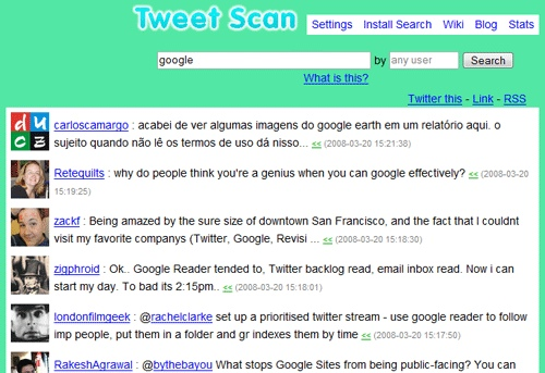 Use Tweet Scan to Search Twitter