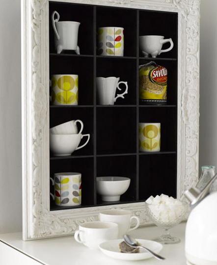 Mug Shelf Kitchen: Re-Use Old CD Shelves As Kitchen Shelving For Mugs And