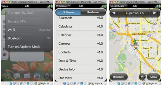 Palm Pre OS Screenshots Leaked