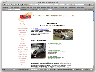 Website of the Day: Electric Cars Are For Girls