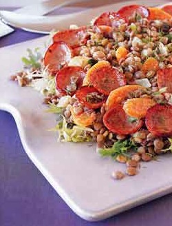 Bon Appetit Recipe for Warm Kielbasa and Lentil Salad
