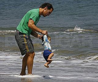 Photo Slide of Matthew McConaughey and His Son Levi