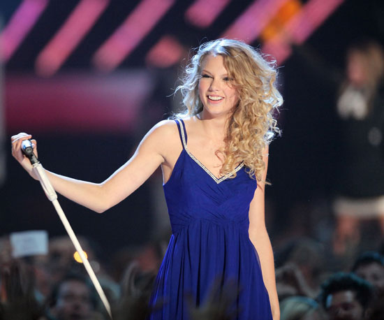 Slide Photo of Taylor Swift Performing At CMT Awards