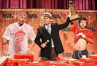 Kobayashi Beats Chestnut, Takes Pizza Eating Title