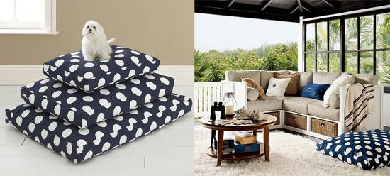 Pottery Barn's Polka-Dot Dog Bed Cover Under $30!