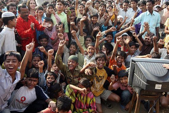 Photos From Mumbai Slums Celebrating Slumdog Millionaire Oscar