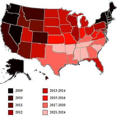 Briefing Book! Map Shows Eventual Spread of Gay Marriage