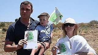 Naomi Watts and Liev Schrieber Spend Time in Israel Planting Trees With Their Sons