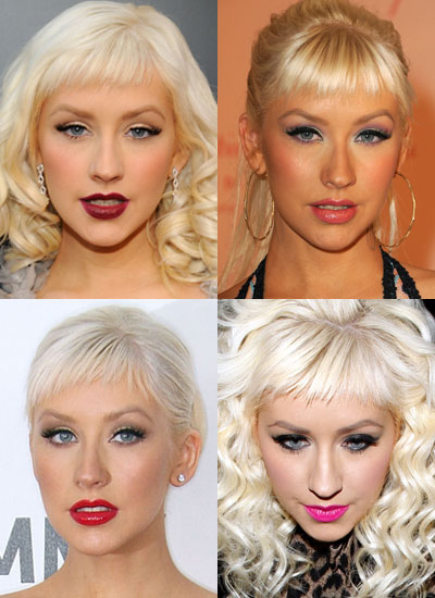 Which Lipstick Shade Do You Prefer on Christina Aguilera?