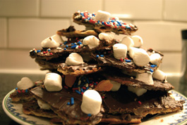 Passover-Friendly Choco-Toffee Matzoh
