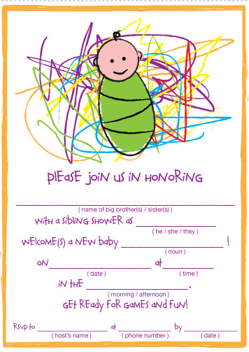 Sibling Shower: Theme, Guest List and Invitations