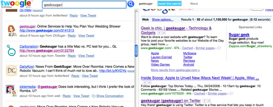 Search Twitter and the Web at the Same Time With Twoogle