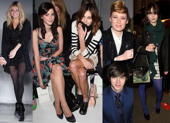 Photos From London Fashion Week Fall 2009 Including Alexa Chung, Sienna Miller, Kaya Scodelario, Roisin Murphy, Nicholas Hoult