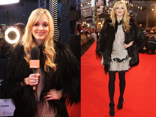Fearne Cotton on 2009 BAFTA Award's Red Carpet