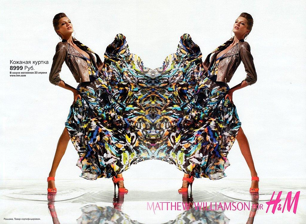 matthew williamson for h and m ad campaign popsugar fashion uk. Black Bedroom Furniture Sets. Home Design Ideas
