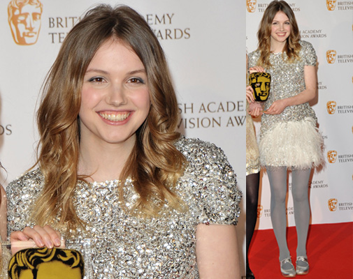Skins Star Hannah Murray at 2009 TV BAFTA Awards