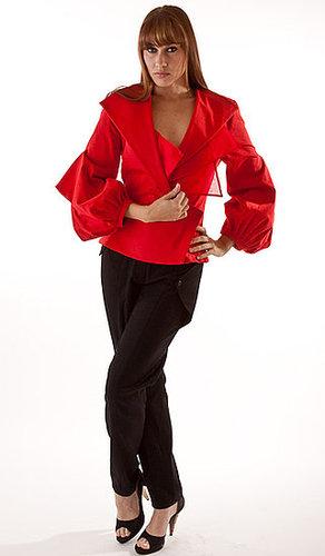 Triangle blazer & Wool cityscape pants