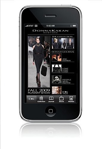 Donna Karan's New Touch iPhone App. Puts Fashion at Your Fingertips