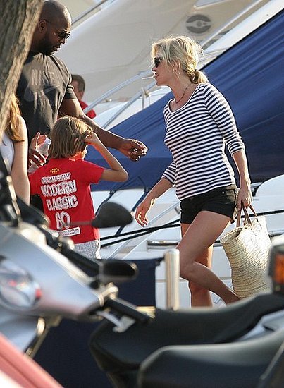 Kate Moss out and about in St Tropez with her daughter