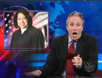 Daily Show's Jon Stewart Mocks Pundits on Sonia Sotomayor