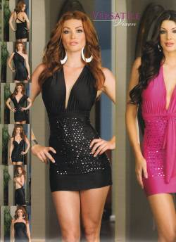 Sexy Dresses - Versatile halter dress can be styled in many different ways, affordable clubwear ~ Free Shipping!