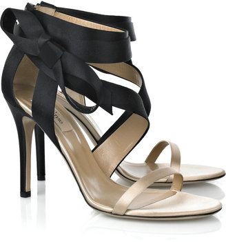 valentino bow satin sandals