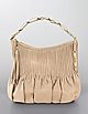 Amalfi North/South Pleated Leather Hobo Bag