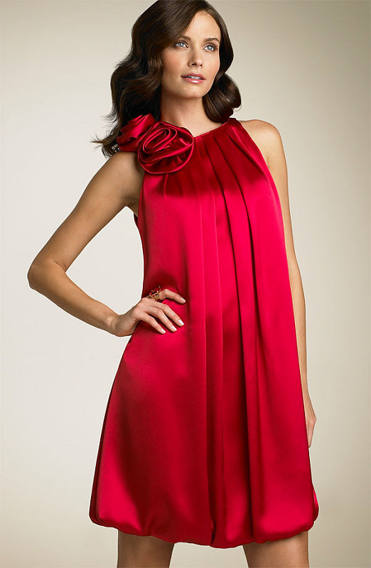 The Look For Less: ABS Charmeuse Red Dress