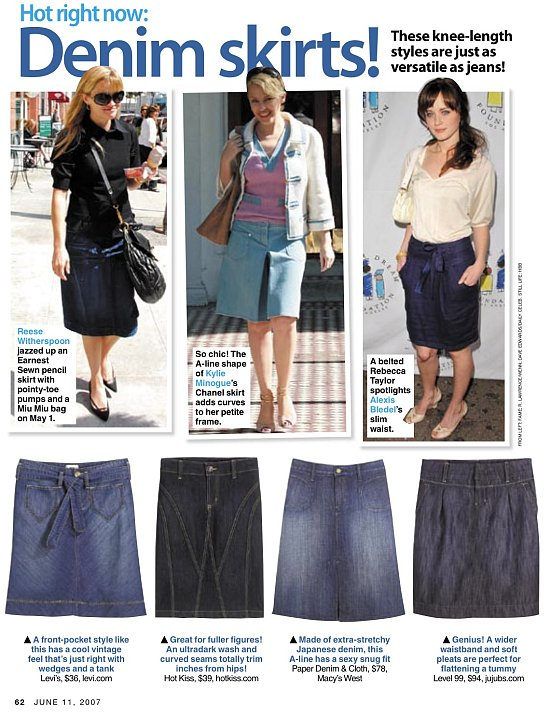 Trend Alert: Easy Breezy Denim Skirts