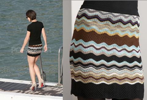 Found! Katie Holmes' Missoni Mini Skirt