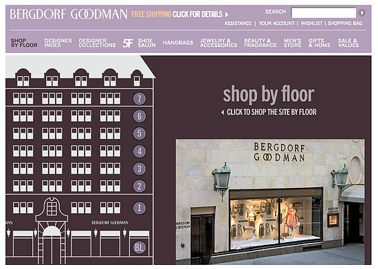 """Fab Site: Bergdorf Goodman's """"Shop By Floor"""" Feature"""
