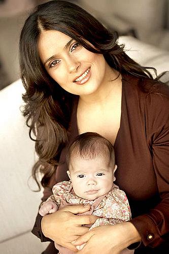 Salma Heyak and baby daughter