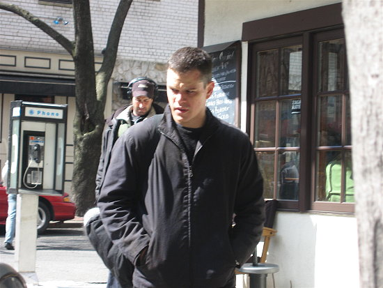 Celebrity Sighting:  Matt Damon on the Set of Ultimatum