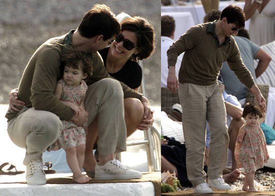 Suri Can Fly!!! With Help from Daddy Tom, Of Course