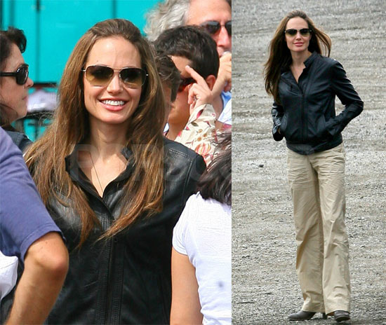 Angelina Glows On The Set Of Wanted