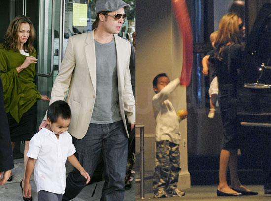 Angelina, Her Eyelashes & Her Family