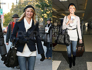 Cameron Diaz Leaves Los Angeles and Travels to New York City