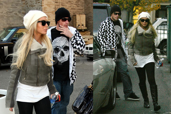 Lindsay Lohan Goes to Cody's Basketball Game and JFK with Riley