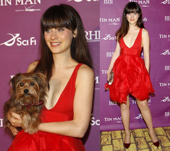 Zooey Deschanel at the LA Premiere of Tin Man