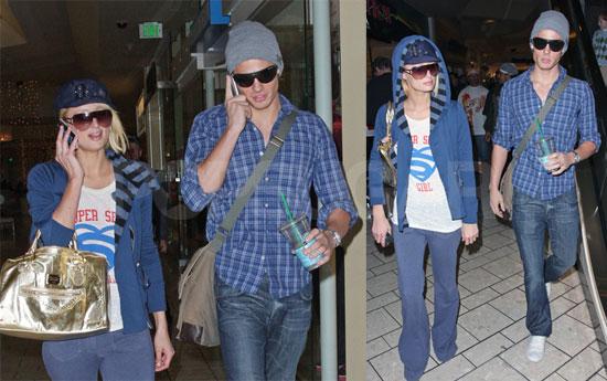 Paris Hilton and Alex Vaggo Go Shopping