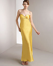 Betsey Johnson Strapless Silk Gown?-? Apparel?-? Neiman Marcus